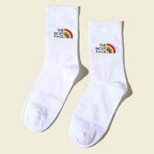 Rainbow Striped Pattern Socks