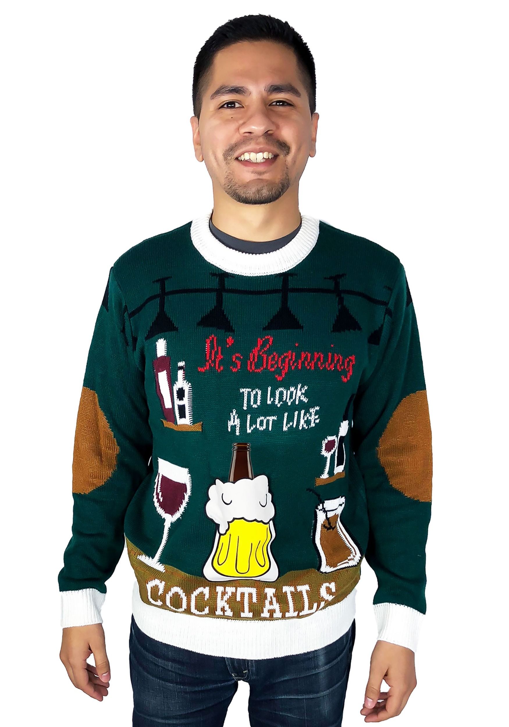 Looks Like Cocktails Ugly Christmas Sweater for Adults