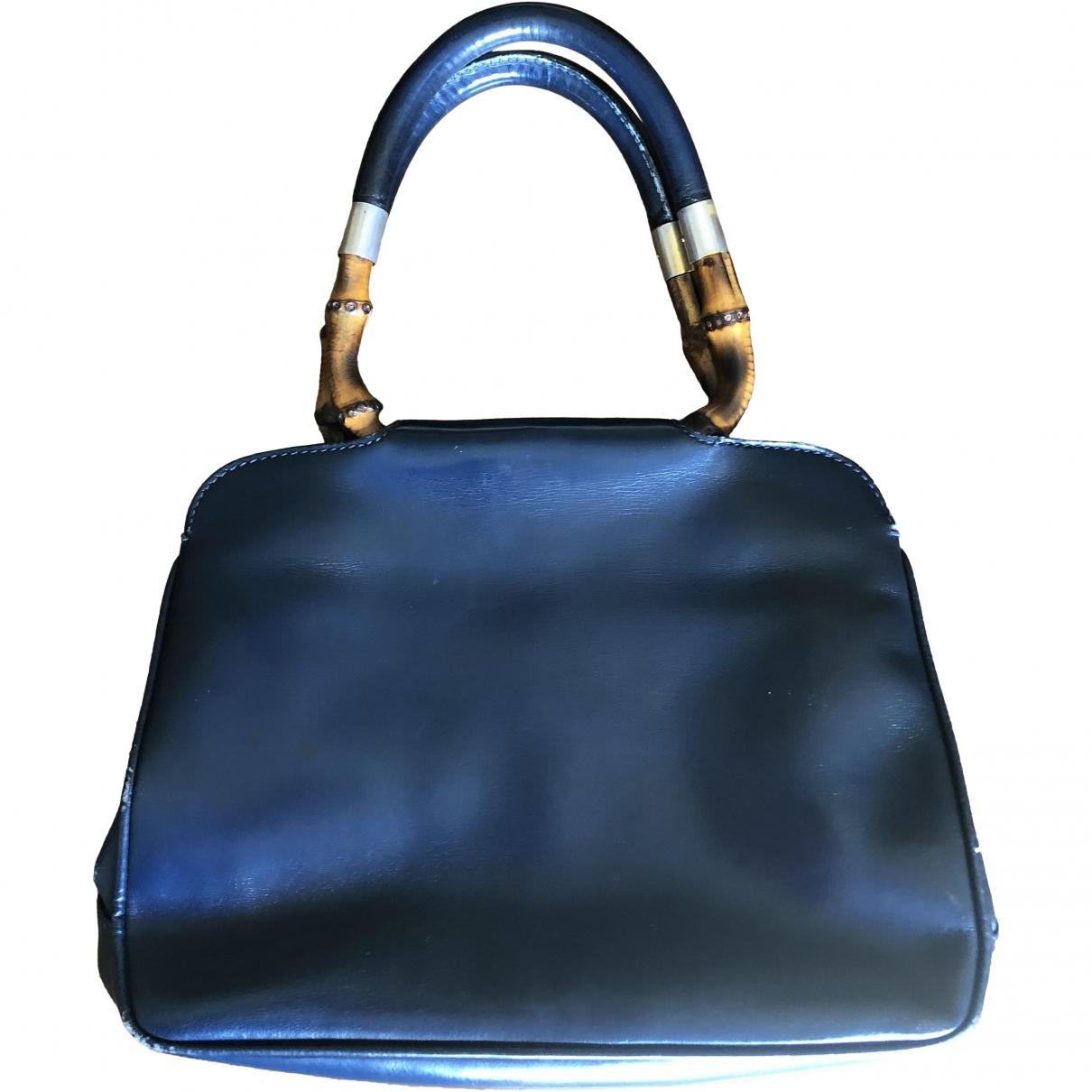 Gucci Bamboo Blue Leather handbag for Women \N