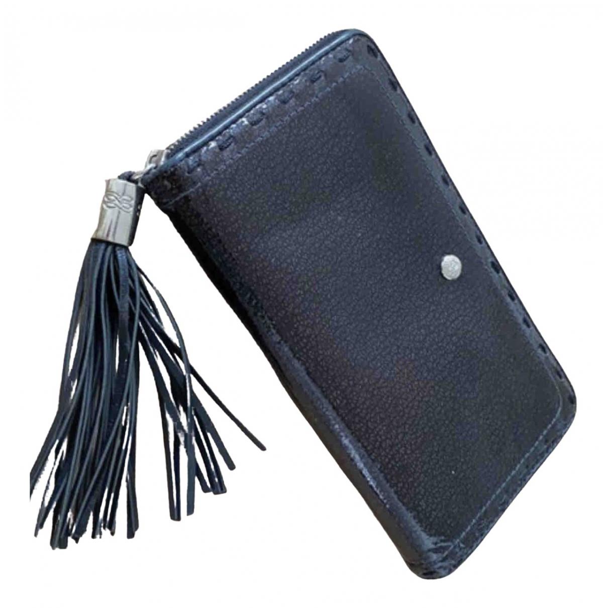 Lancel \N Black Patent leather wallet for Women \N