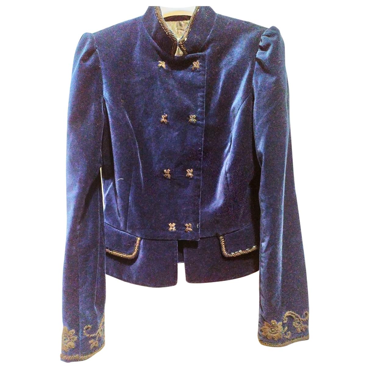 Massimo Dutti \N Blue Velvet jacket for Women 40 FR