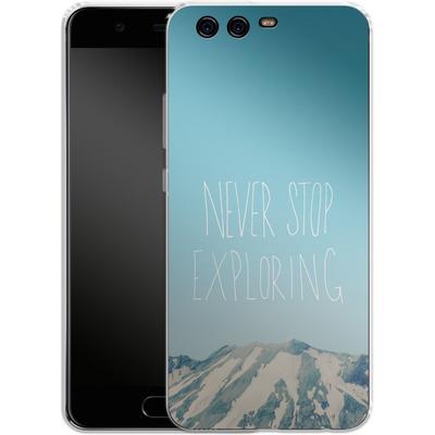 Huawei P10 Silikon Handyhuelle - Never Stop Exploring von Leah Flores