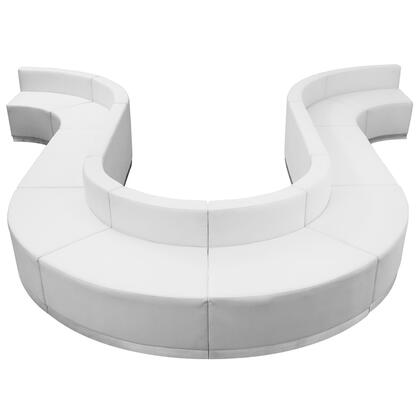 ZB-803-440-SET-WH-GG HERCULES Alon Series White Leather Reception Configuration 10