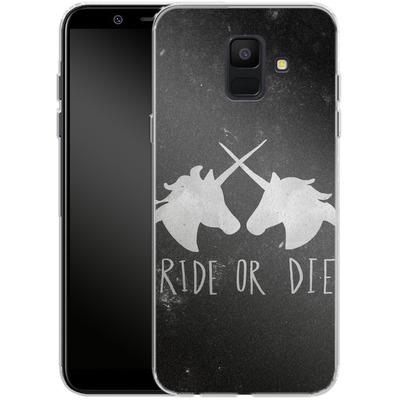 Samsung Galaxy A6 Silikon Handyhuelle - Ride or Die von Leah Flores