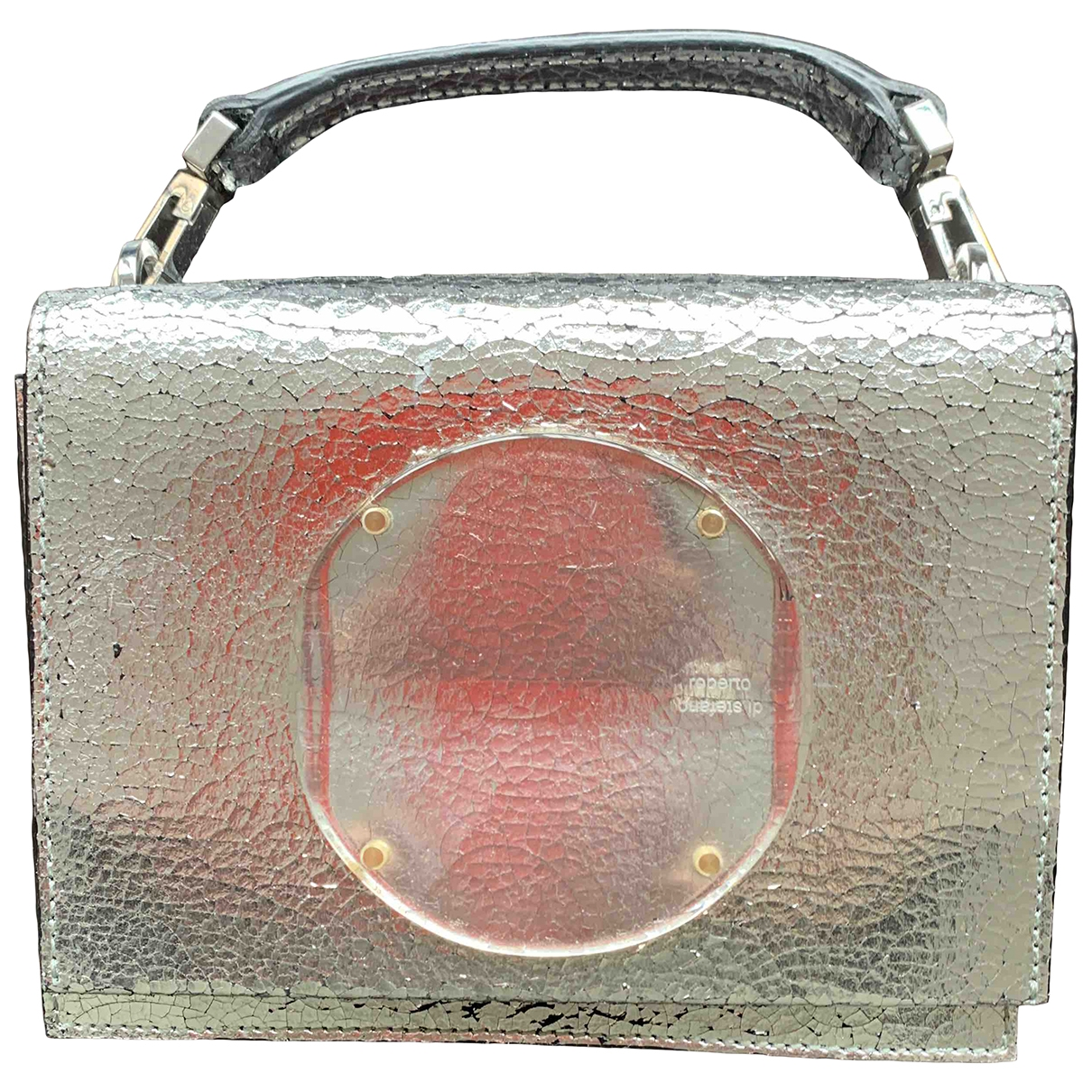 Non Signé / Unsigned \N Silver Leather Clutch bag for Women \N