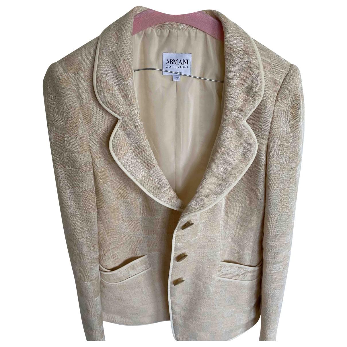 Armani Collezioni - Veste   pour femme en coton - beige