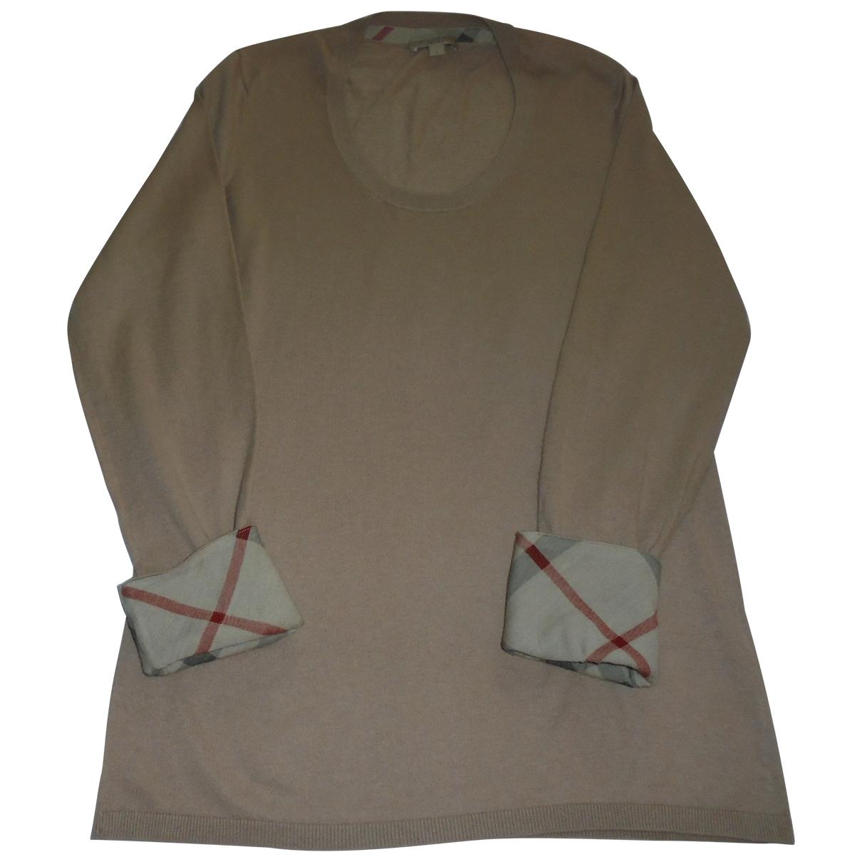 Burberry - Pull   pour femme en cachemire - beige
