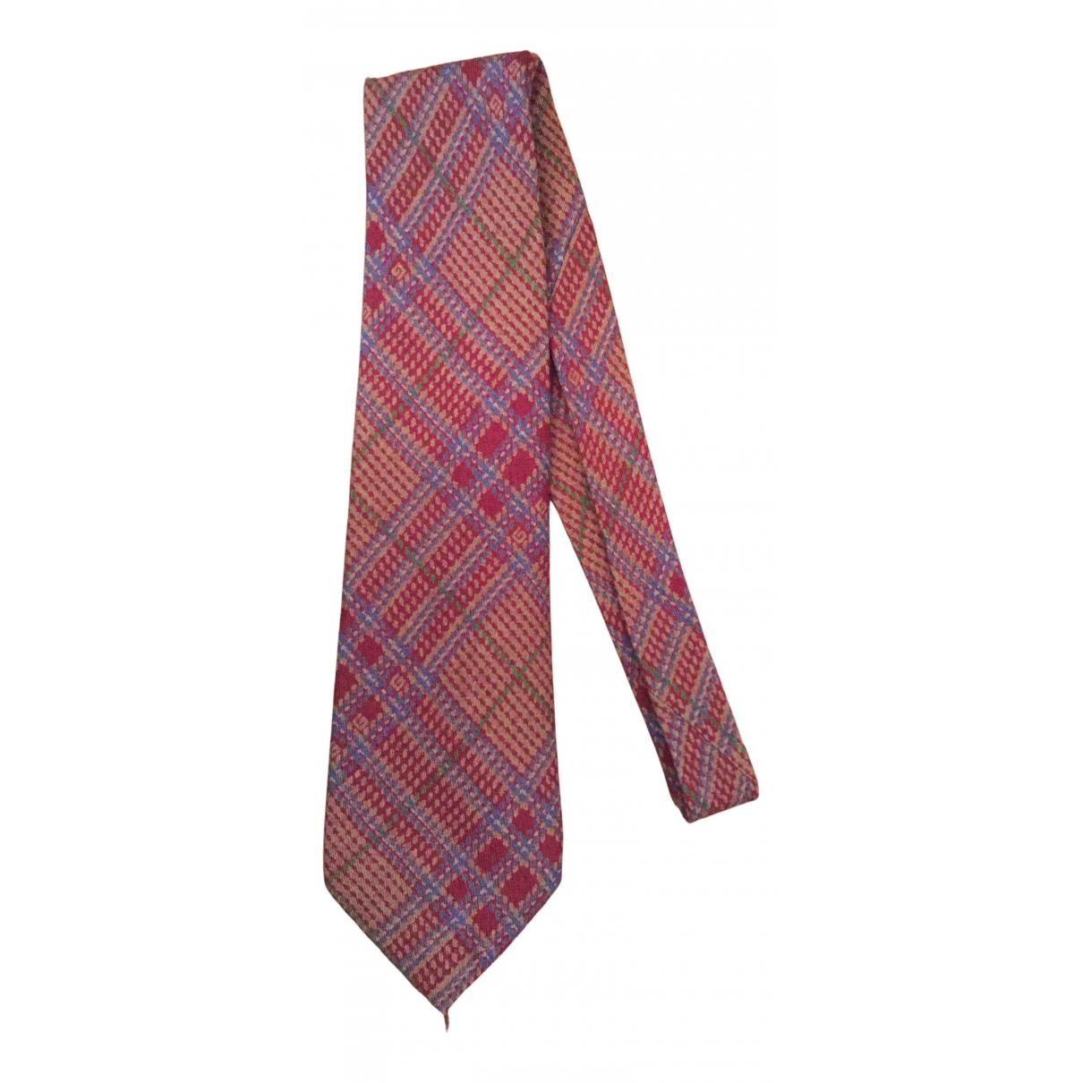 Gucci N Burgundy Wool Ties for Men N