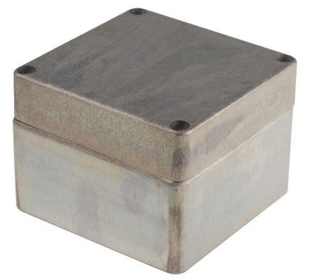 RS PRO Unpainted Die Cast Aluminium Enclosure, IP66, 122 x 120 x 91mm
