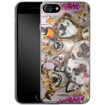Apple iPhone 7 Silikon Handyhuelle - Pet Selfie von Howard Robinson