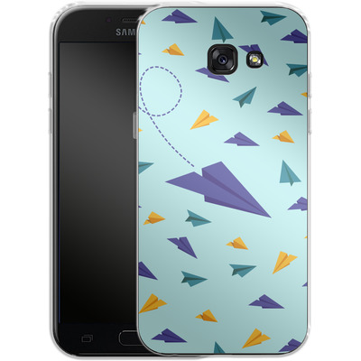Samsung Galaxy A5 (2017) Silikon Handyhuelle - Paper Planes von caseable Designs