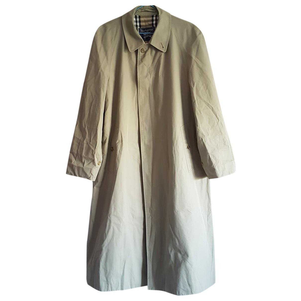 Burberry - Trench   pour femme en coton - beige