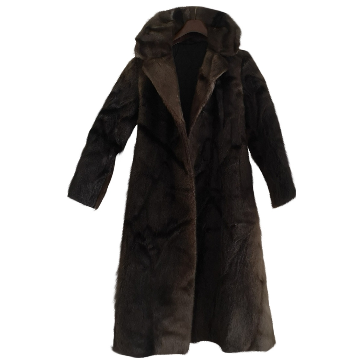 Non Signé / Unsigned \N Brown Beaver coat for Women S International