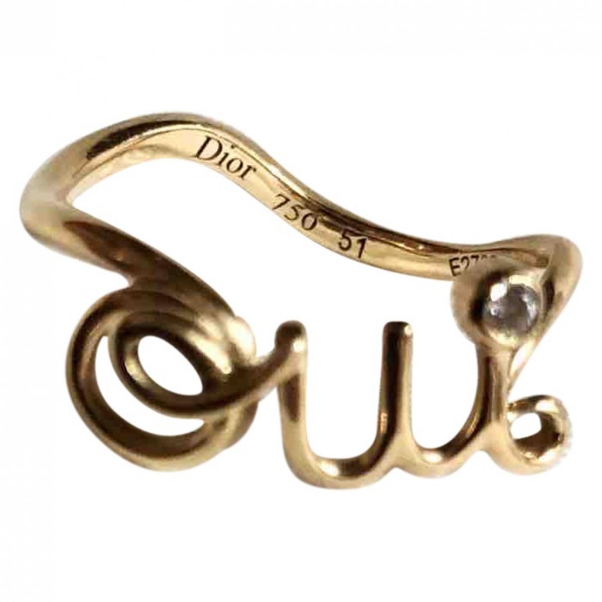 Dior - Bague Oui pour femme en or jaune - dore