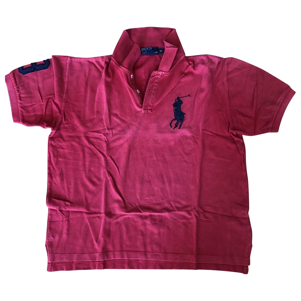 Polo Ralph Lauren Polo ajuste manches courtes Poloshirts in  Rosa Baumwolle