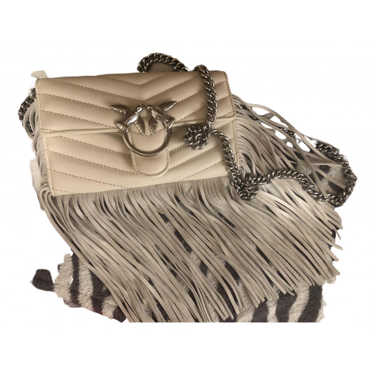 Pinko Love Bag Clutch in  Weiss Leder
