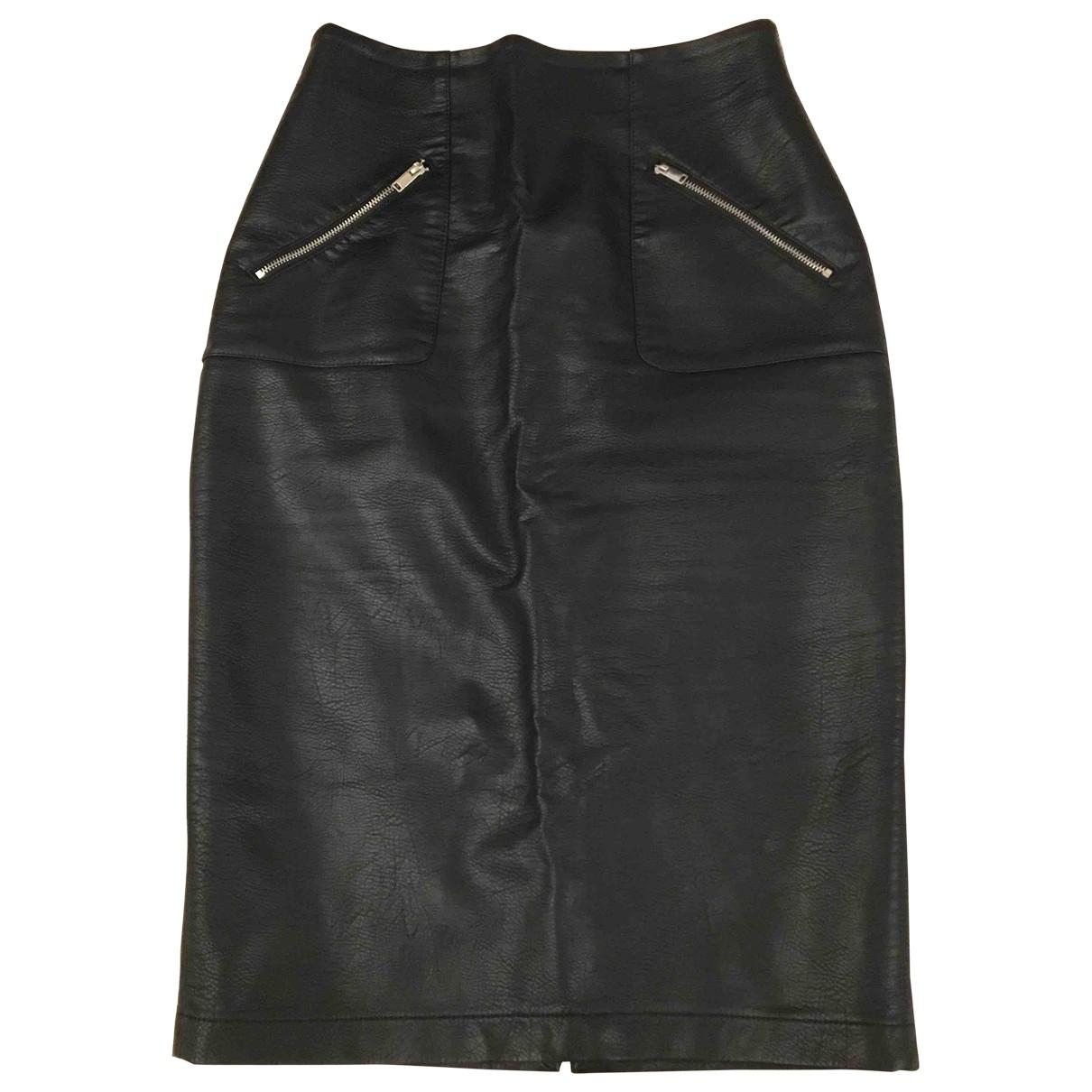 Zara \N Rocke in  Schwarz Leder