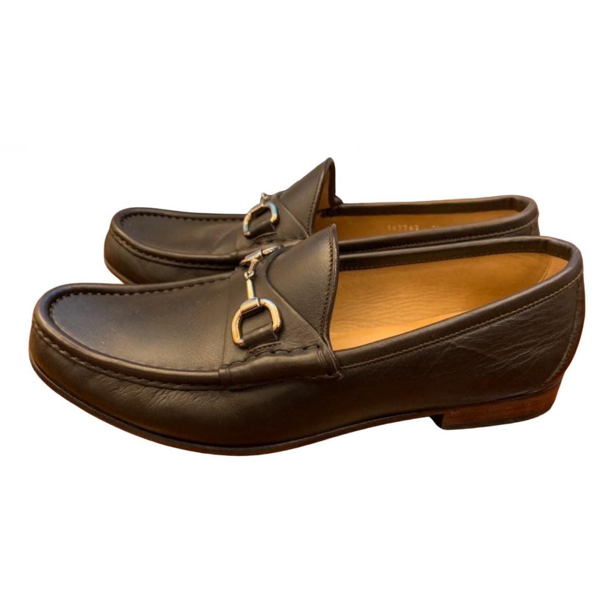 Gucci Jordaan Brown Leather Flats for Men 7.5 UK