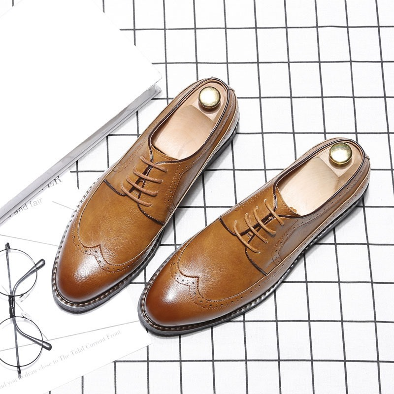 EricdressPlain Lace-Up Pointed Toe Men's Oxfords