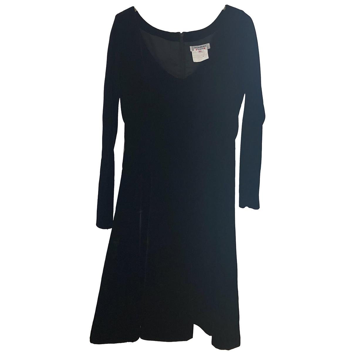 Yves Saint Laurent \N Kleid in  Schwarz Samt