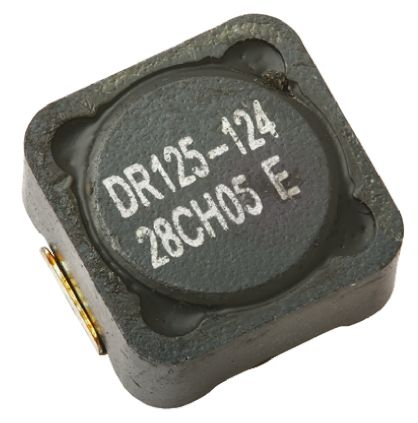 Eaton Bussmann Series , DR73/74/125/127, 0125 Shielded Wire-wound SMD Inductor with a Ferrite Core, 220 μH ±20% (5)