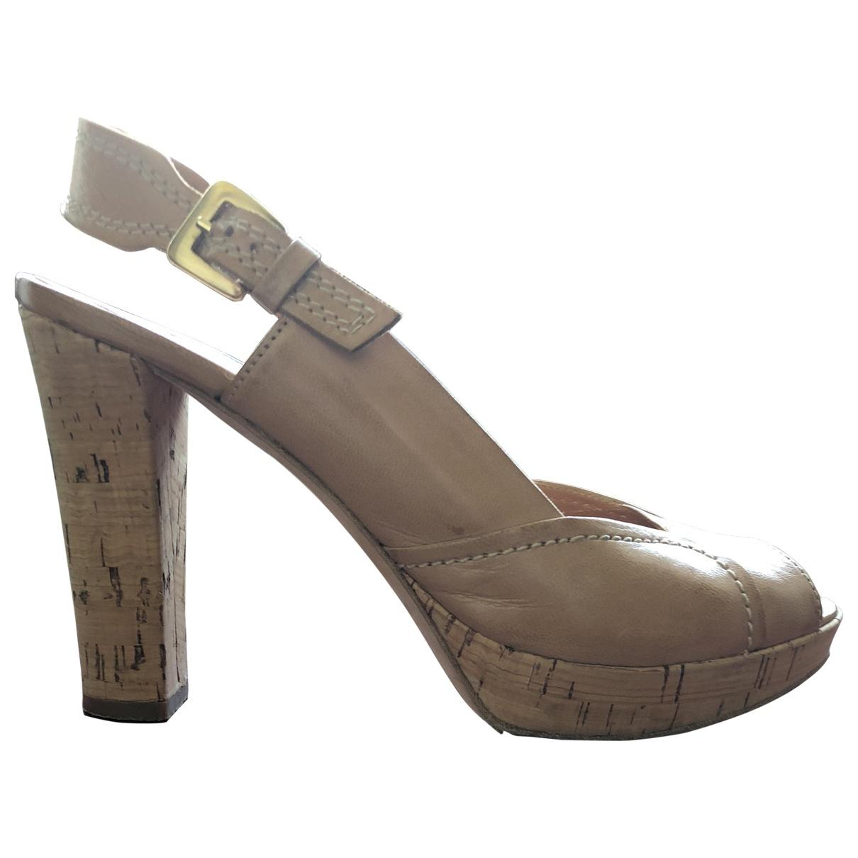 Baldinini - Sandales   pour femme en cuir - beige