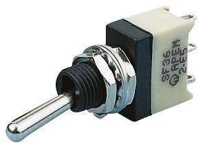 APEM SPST Toggle Switch, Latching, Panel Mount