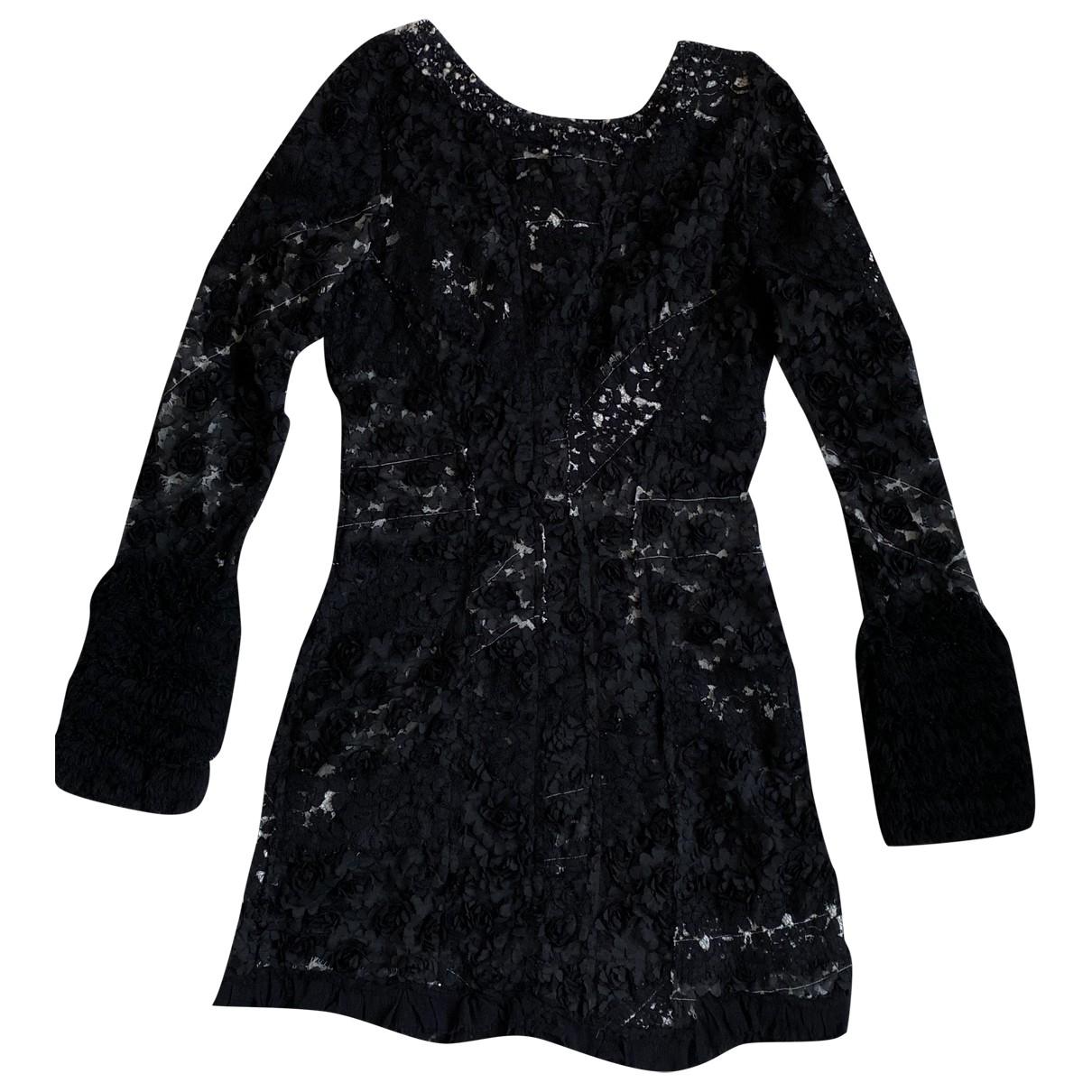 Nina Ricci - Robe   pour femme en dentelle - noir