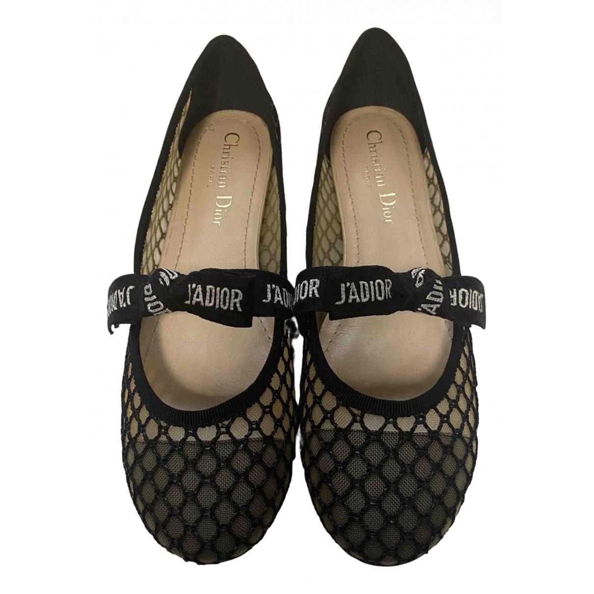 Dior Miss Jadior Black Cloth Ballet flats for Women 36.5 EU