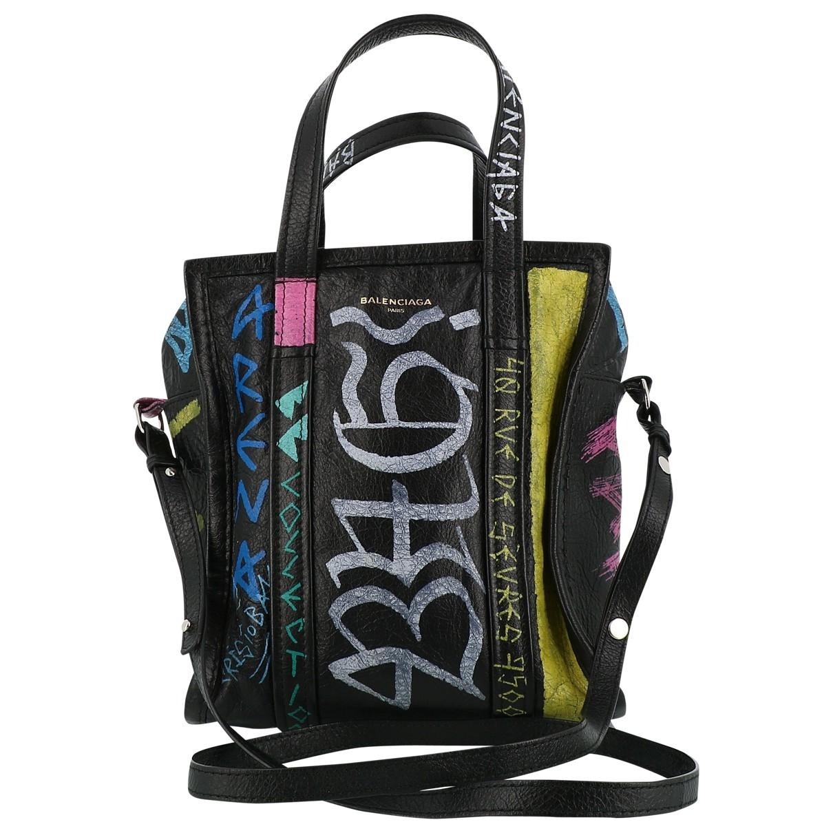 Balenciaga Bazar Bag Black Leather handbag for Women \N
