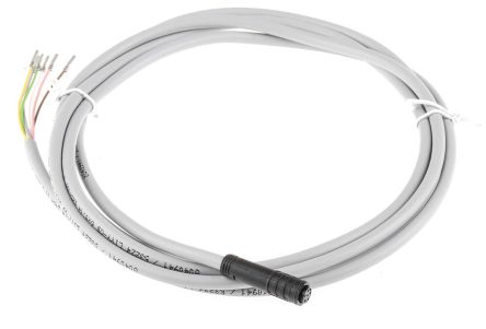 Schmersal A-K6P-M8-R-G-2M-GY-1-X-A-4 Connection Cable, For Use With BNS 260 Safety Switch