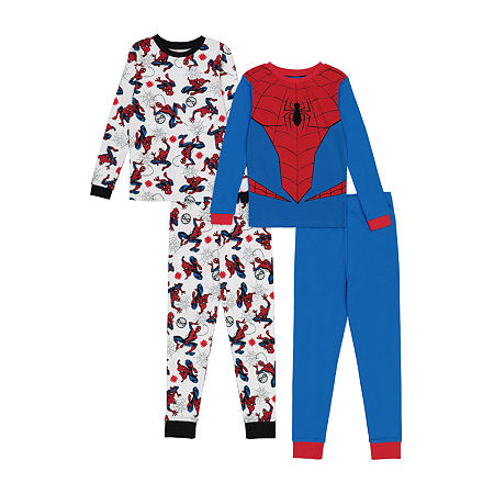 Little & Big Boys 4-pc. Spiderman Pajama Set, 10 , Multiple Colors