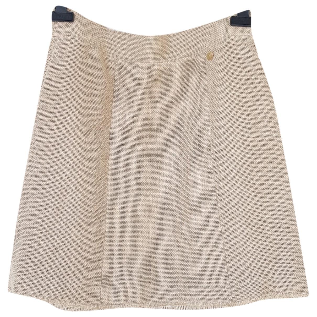 Chanel - Jupe   pour femme en lin - ecru