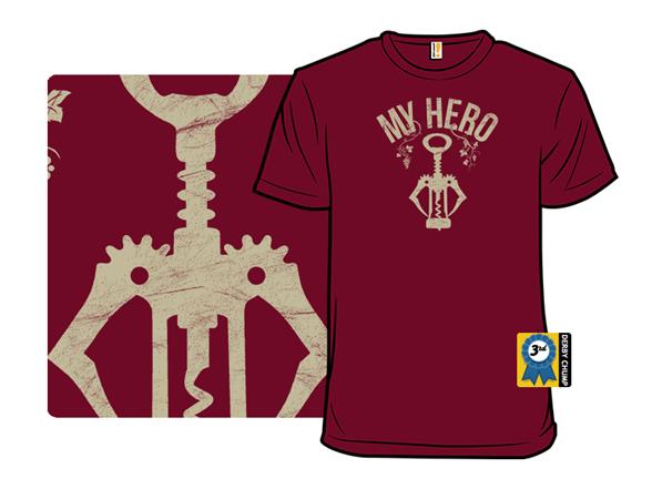 Wine Is My Hero T Shirt