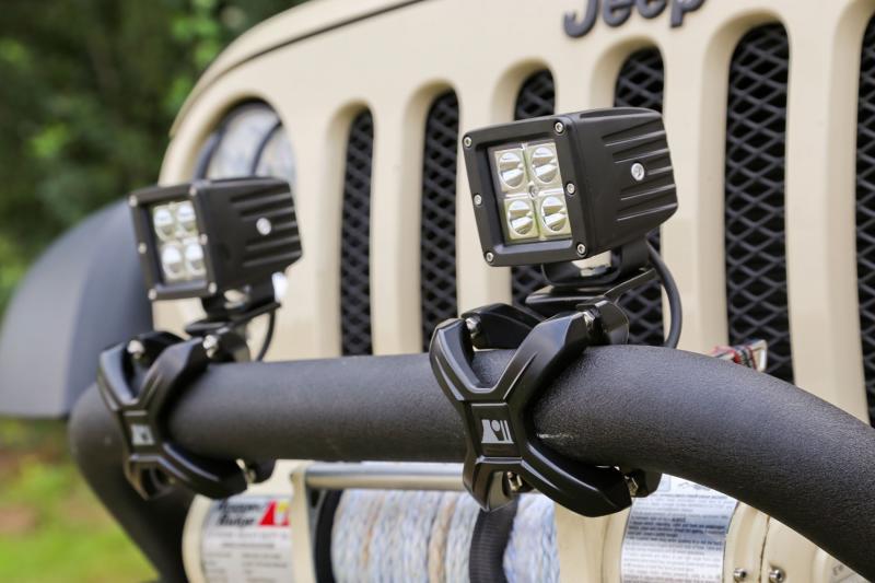 Rugged Ridge 15210.02 Light Kit, X-Clamp/Square LED, Large, Black, 2 Pieces
