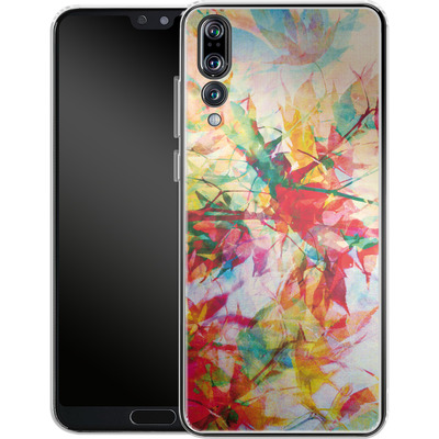 Huawei P20 Pro Silikon Handyhuelle - Abstract Autumn 2 von Mareike Bohmer
