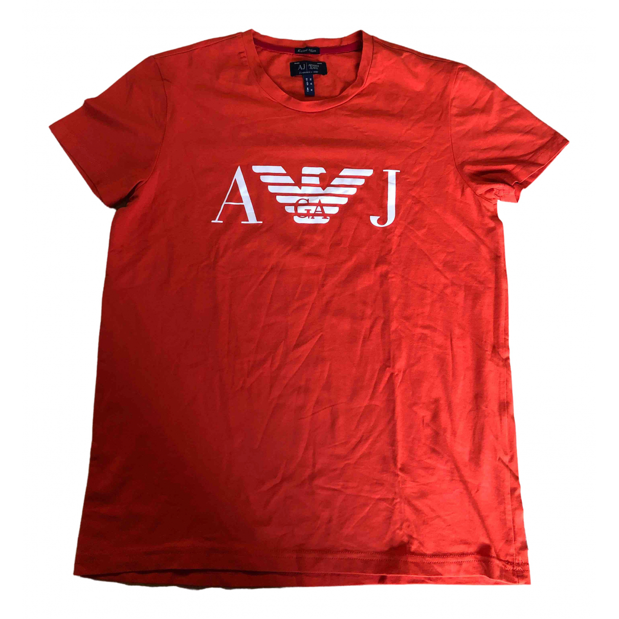 Armani Jean - Tee shirts   pour homme en coton - orange