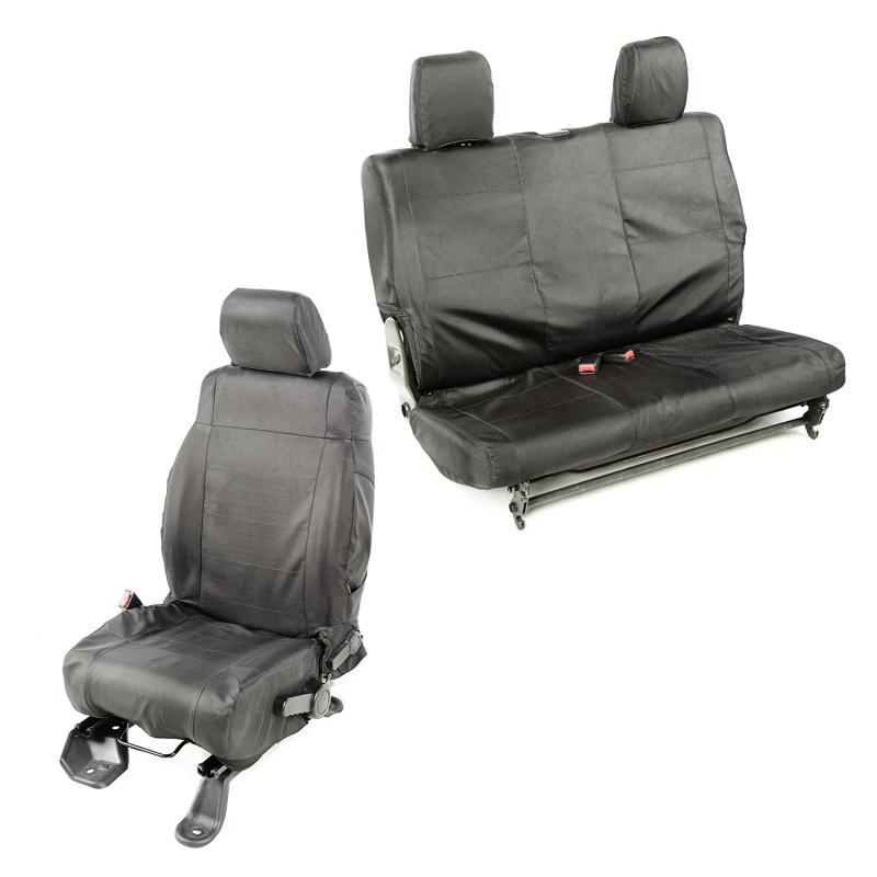 Rugged Ridge 13256.07 Ballistic Seat Cover Kit; 11-18 Jeep Wrangler JK, 2 Door Jeep Wrangler 2011-2018