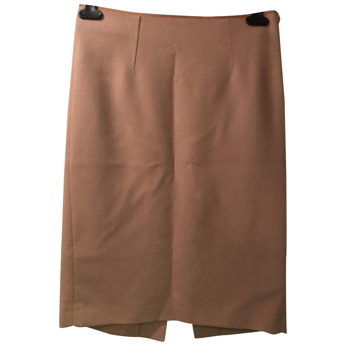 Mauro Grifoni \N Beige Wool skirt for Women 42 IT