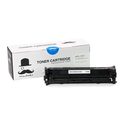 Compatible Canon 131C 6271B001AA Cyan Toner Cartridge - Moustache@ - 1/Pack
