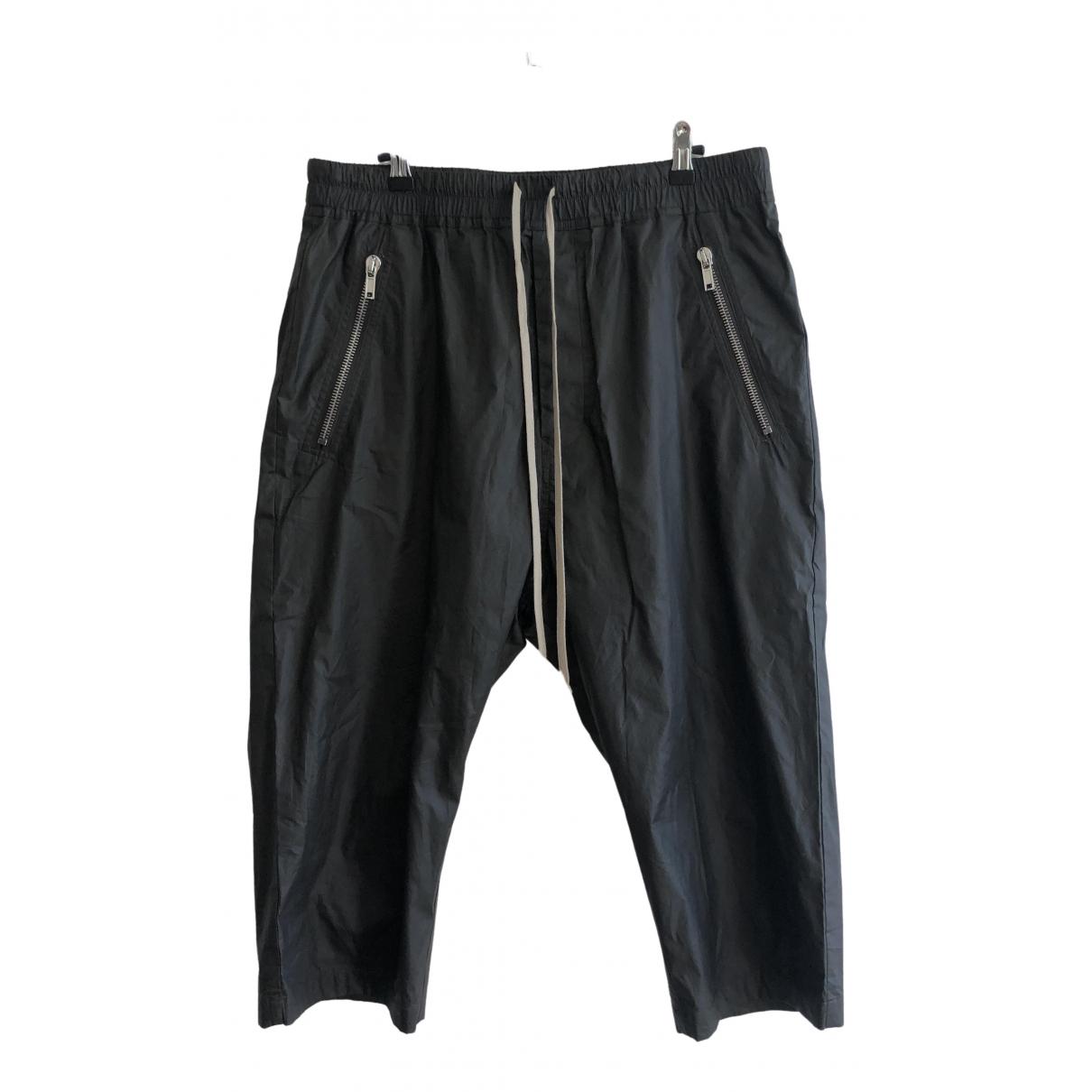 Rick Owens \N Black Cotton Shorts for Men 52 IT