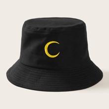 Sombrero cubo con bordado de luna