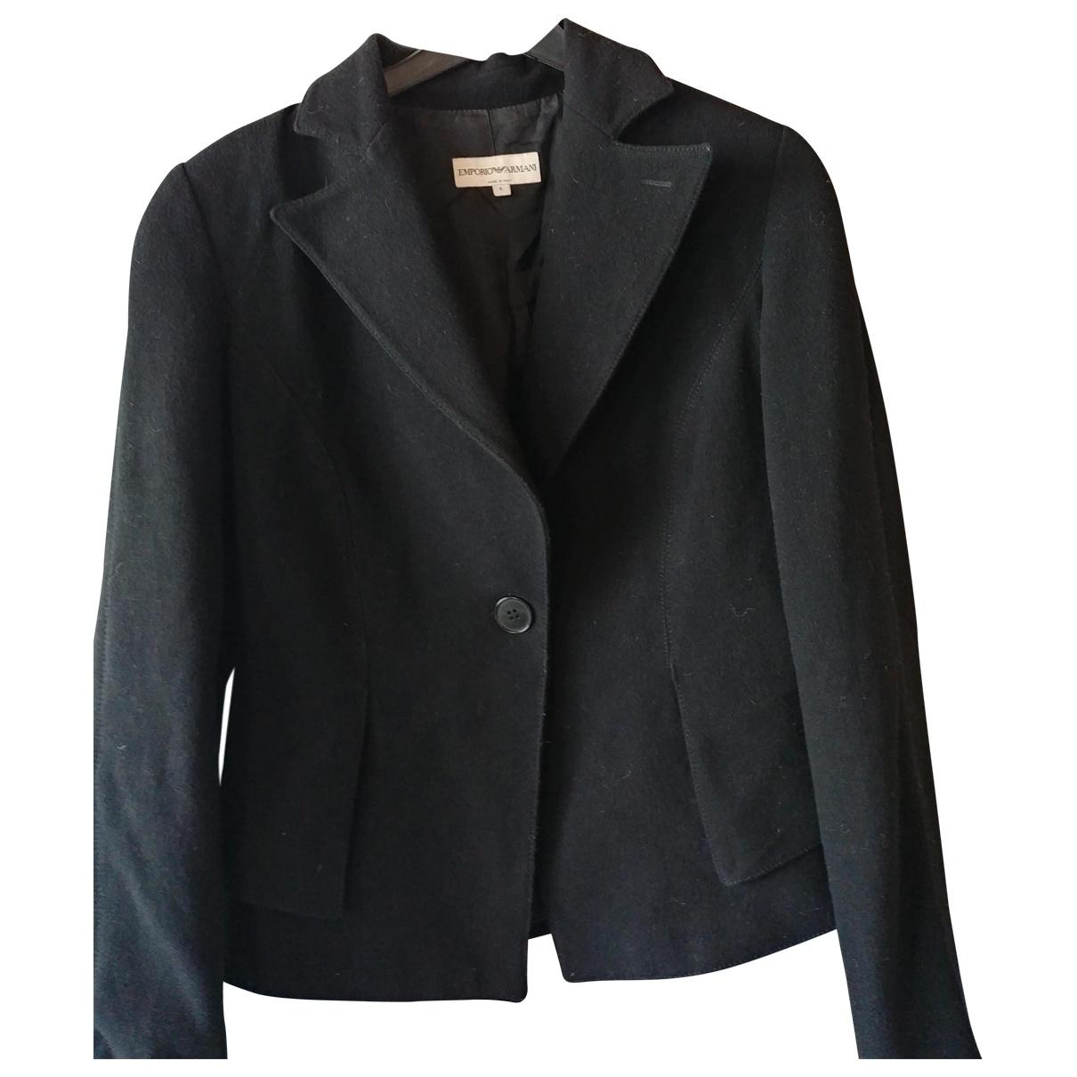 Emporio Armani \N Black Wool jacket for Women 40 IT