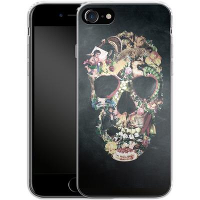 Apple iPhone 8 Silikon Handyhuelle - Vintage Skull von Ali Gulec