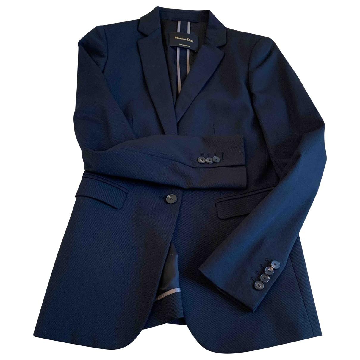 Massimo Dutti \N Black Wool jacket for Women 36 FR