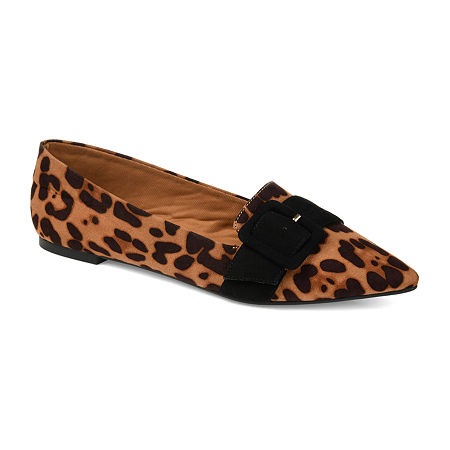 Journee Collection Womens Audrey Slip-on Pointed Toe Loafers, 9 Medium, Brown