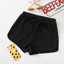 Shorts tejidos de canale de cintura con cordon
