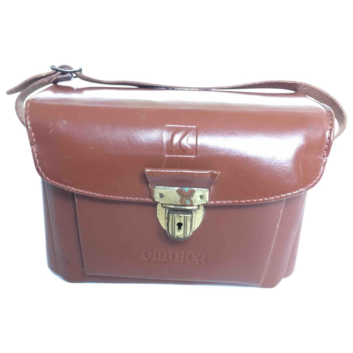 Non Signe / Unsigned \N Handtasche in  Braun Lackleder