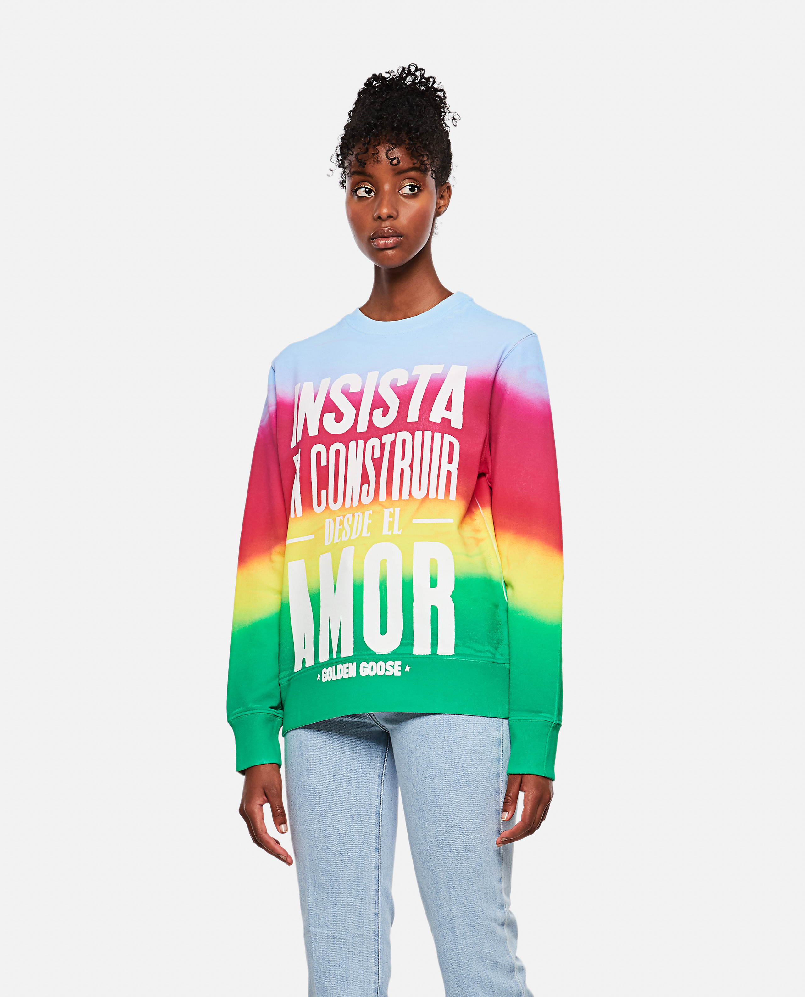 Athena tie-dye sweatshirt with print on the front