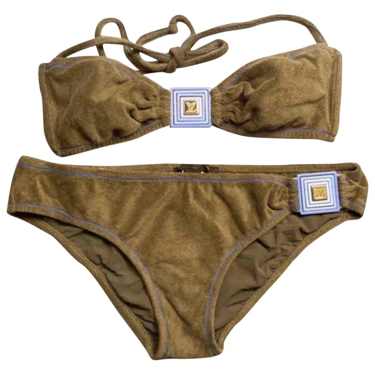 Louis Vuitton - Bain   pour femme en coton - elasthane - marron
